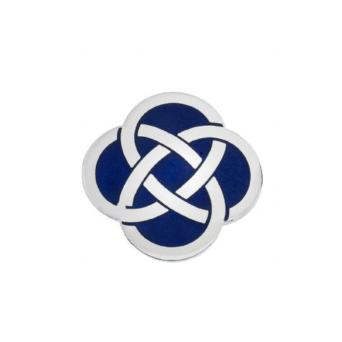 Celtic Knot Blue Brooch Silver Plated Brand New Gift Packaging